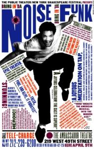 Paula Scher, Bring in 'da Noise, Bring in 'da Funk Affiche, 1996