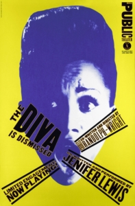 Paula Scher, The Diva Is Dismissed Affiche, 1994