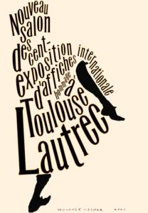 Paula Scher, Le Nouveau Salon des Cent (Toulouse Lautrec) Affiche, 2001